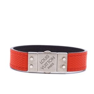 Black Red Check It Damier Infini Leather Bracelet